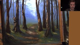 getlinkyoutube.com-Wooded Landscape - Full Beginners Painting
