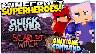 getlinkyoutube.com-Minecraft | QUICKSILVER & SCARLET WITCH | How To Be A Superhero! | Only One Command