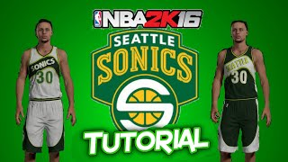 NBA 2K16: HOW TO MAKE Seattle Supersonics Replica Jerseys