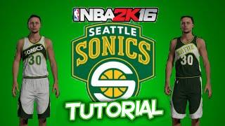 getlinkyoutube.com-NBA 2K16: HOW TO MAKE Seattle Supersonics Replica Jerseys
