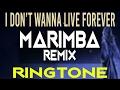 I Dont Wanna Live Forever Marimba Ringtone iPhone Ringtone - Zayn, Taylor Swift