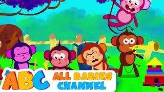 getlinkyoutube.com-Five Little Monkeys Jumping On The Bed | Nursery Rhymes | Kids Songs | All Babies Channel