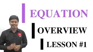 EQUATION_LESSON #1~Overview of Equation