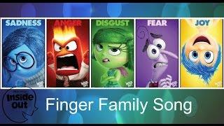 getlinkyoutube.com-Finger Family INSIDE OUT Nursery Rhymes for kids Disney Pixar Babies Toddlers