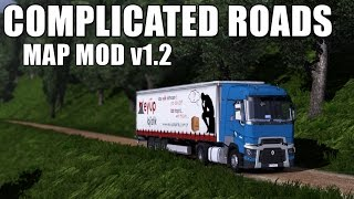 getlinkyoutube.com-Complicated Roads #2 - Euro Truck Simulator 2 | Patch 1.16