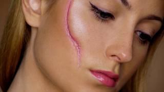 getlinkyoutube.com-Easy Scar - Last Minute Halloween Makeup Tutorial