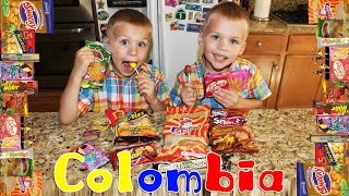 getlinkyoutube.com-Kids Try Foods From Colombia || Universal Yums