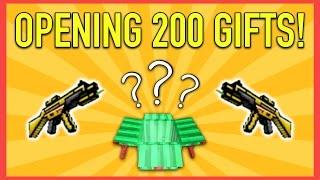 getlinkyoutube.com-200 GIFT BOX OPENING! | Pixel Gun 3D Gift Opening #1
