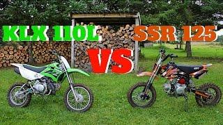 getlinkyoutube.com-PIT BIKE COMPARISON SSR 125 vs KLX110L !!!!