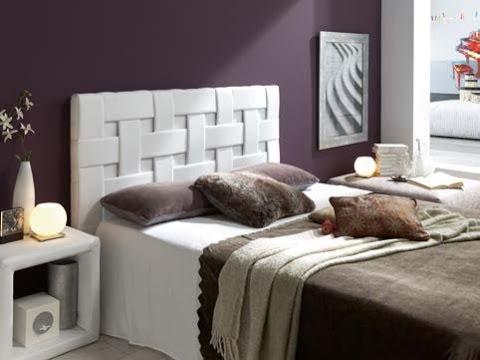 Catalogo de muebles auxiliares tapizados (cabezales, arcones...) Varios colores.