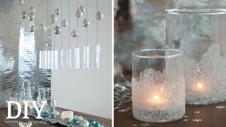 getlinkyoutube.com-Silvesterdeko basteln - Tischdeko mit geeisten Windlichtern Tutorial | Deko Kitchen
