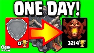 "Clash of Clans ""World Record"" Town Hall 9 Champion in a DAY!"