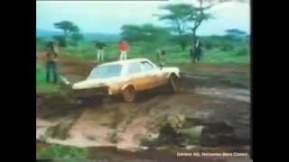 Mercedes-Benz 450 SLC 1970s Rally Racing Footage