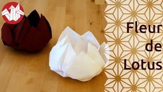 getlinkyoutube.com-Origami - Fleur de lotus - Lotus Flower [Senbazuru]