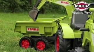 getlinkyoutube.com-Ogromny traktor, koparka dla dzieci na pedały, wywrotka CLAAS AXOS 1010W