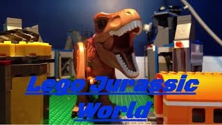 getlinkyoutube.com-Lego Jurassic World T Rex Vs Indominus Rex