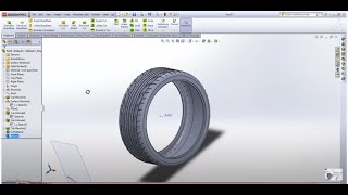 MRF Tyre modelling using Solidworks software