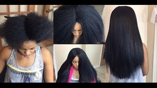 getlinkyoutube.com-#79. YOU CAN'T TELL IT S NOT HER NATURAL PRESSED HAIR