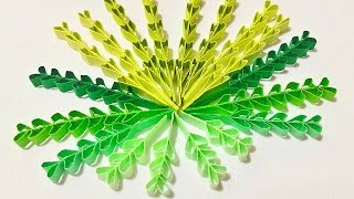 getlinkyoutube.com-Heart shape quilling leaves tutorial