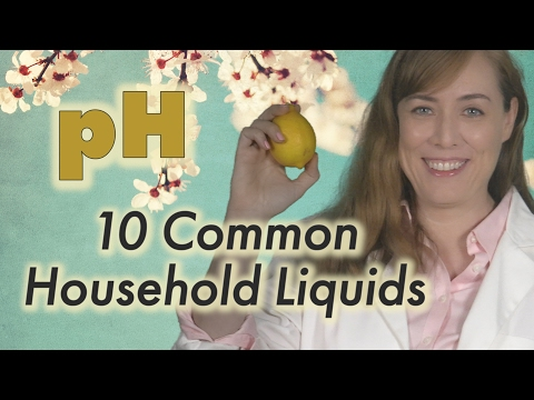 pH of 10 Common Household Liquids | Chemistry | acid or base | pH scale