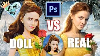 getlinkyoutube.com-How to Edit Doll Photo & Pictures - Basic Photoshop Editing Tutorial | Disney Belle Vs Emma Watson