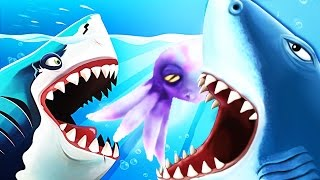 getlinkyoutube.com-Hungry Shark World Baby Boss Pet vs Hungry Shark Evolution!