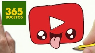 getlinkyoutube.com-COMO DIBUJAR LOGO YOUTUBE KAWAII PASO A PASO - Dibujos kawaii faciles - How to draw a logo YOUTUBE