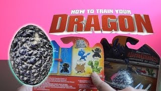 getlinkyoutube.com-Surprise eggs with How to Train Your Dragon toys hatching fizzing