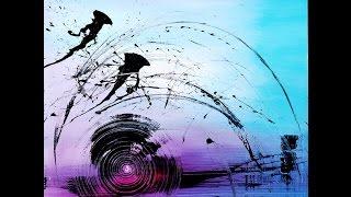 "getlinkyoutube.com-Abstract acrylic painting démo vidéo by Samuel Chevalier : "" ZEN """