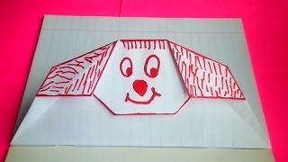 getlinkyoutube.com-оригами конверт с щенком,идеи для личного дневника (лд) #17,оригами для лд // origami envelope