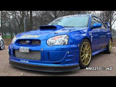 500bhp Subaru Impreza STi Turbo Antilag Backfiring!!