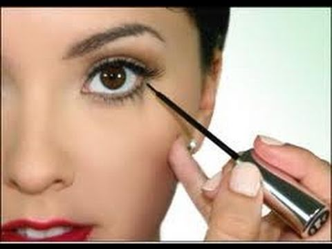 How to Apply Liquid Eyeliner! -qI8nTPlz0k4