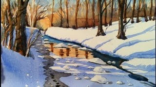 getlinkyoutube.com-Watercolors WINTER SNOWSCENE