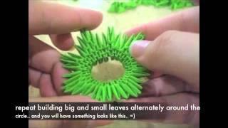 getlinkyoutube.com-3D origami pineapple tutorial?