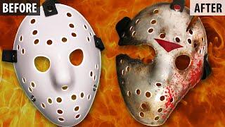 getlinkyoutube.com-How to Make a Friday The 13th Part 9 Jason Mask - DIY Painting Tutorial