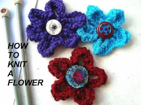 HOW TO KNIT A FLOWER, diy, knitted flower for brooches, hats, purses, etc.