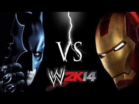 WWE 2K14 Batman vs Iron Man Million Dollar Battle- HD