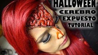 getlinkyoutube.com-Maquillaje Cerebro Expuesto Halloween| LoLo Love