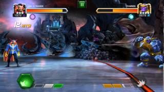 getlinkyoutube.com-3* Dr. Strange vs Thanos - 1-0 Marvel Contest of Champions