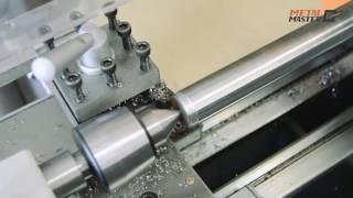 getlinkyoutube.com-Токарный станок Metal Master MML 1830 V - тест на максимальный съем по стали.