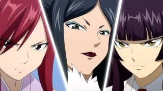getlinkyoutube.com-Erza vs Kagura vs Minerva (English Dub) HD