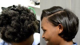 getlinkyoutube.com-SILK BLOWOUT ON 4C NATURAL HAIR + DETAILED STEPS + #HAIRTALK