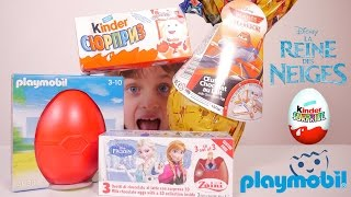 getlinkyoutube.com-[OEUF & JOUET] Reine des Neiges, Kinder Surprise, Playmobil, Disney Planes - Unboxing Eggs & Toy