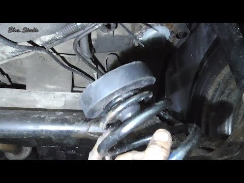 Снятие и установка задних пружин с заменой проставок Lanos