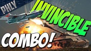 getlinkyoutube.com-INVINCIBLE COMBO! IS-3 & IL-28 JET BOMBER! War Thunder Tanks Gameplay