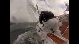 getlinkyoutube.com-Beneteau Oceanis 38 Sailing in 25 knots
