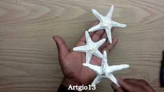 getlinkyoutube.com-Estrellas de mar (Reciclando Periodico)/ Starfish ( Recycling Newspaper )