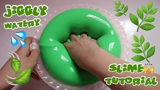 JIGGLY WATERY BLEBERBLEBER SLIME TUTORIAL WITH MIX GLUE   SUPER FUN TO PLAY BHS INDONESIA
