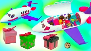 getlinkyoutube.com-Season 6 & 7 Shopkins Ride On Gift 'Ems Private Jet with Exclusive Doll + Surprise Blind Bags