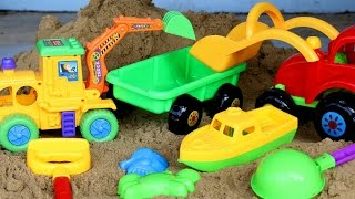 getlinkyoutube.com-รีวิวของเล่น-รถแม็คโคร รถตักดิน กระบะพ่วง - วีดีโอสำหรับเด็ก